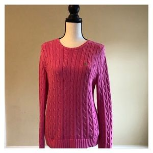 RALPH LAUREN | Pink Knit Sweater | Size Large
